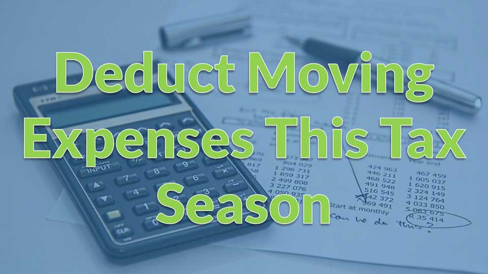 Moving Calculator - Deduct Moving Expenses This Tax Season