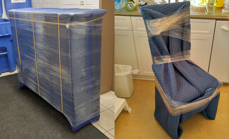 Moving Calculator - Moving in the Rain Shrink Wrapped Furniture